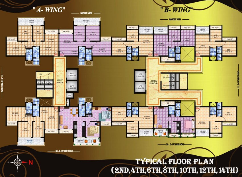 Residential Multistorey Apartment for Sale in Plot No 43A, 44A, Sector 16, , Kalamboli-West, Mumbai