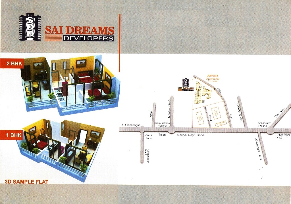 Residential Multistorey Apartment for Sale in Behind Arti App,Near Moreshwar Complex,Morya Nagri Road,Ashle Goan , Ulhasnagar-West, Mumbai