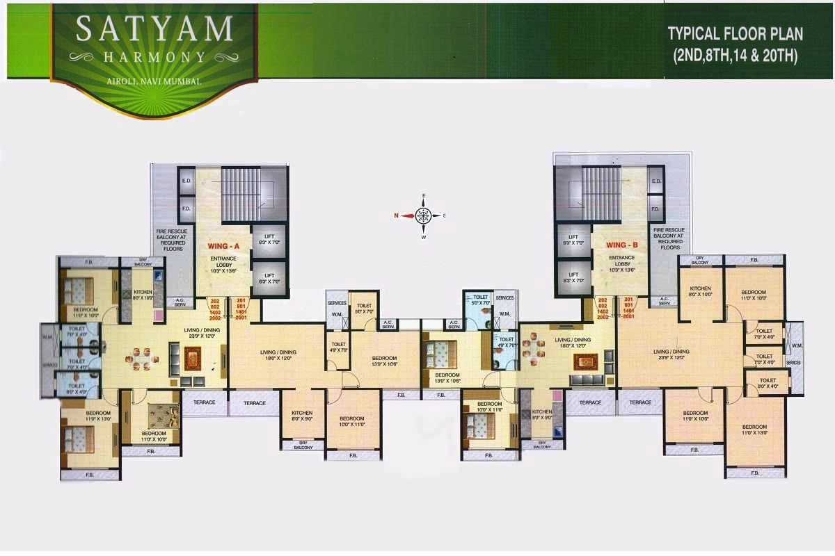 Residential Multistorey Apartment for Sale in Plot No.66, Sector 8A , Airoli-West, Mumbai