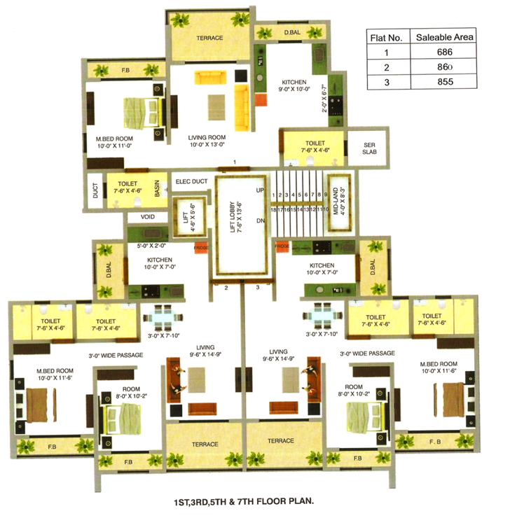Commercial Flats for Sale in 7/1, 7/2, Nr Commissioner , Kalyan-West, Mumbai