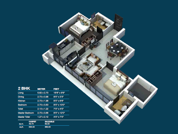 Residential Multistorey Apartment for Sale in L.B.S. Marg , 3rd Floor , Multiple x Building , Mulund-West, Mumbai