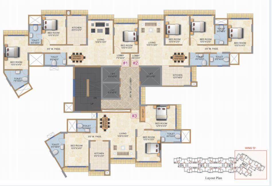 Residential Multistorey Apartment for Sale in TRINITY, Next to Hiranandani Hospital, Powai, Mumbai - 400 076. , Powai-West, Mumbai
