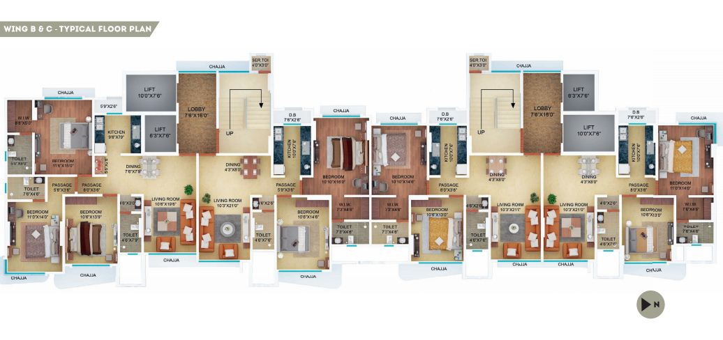 Residential Multistorey Apartment for Sale in Off to 2nd Hasanbad Lane, Near St. Teresa