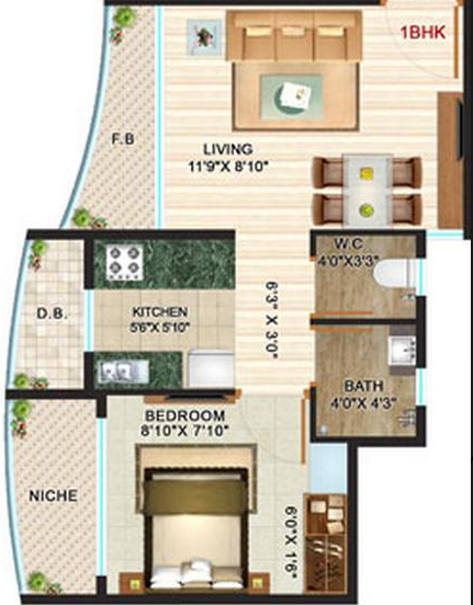 Residential Multistorey Apartment for Sale in Tivri, , Naigaon-West, Mumbai