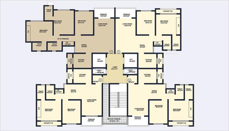 Commercial Flats for Sale in New AyreRoad,Ayre Village, Opp Kopar Railway Station , Dombivli-West, Mumbai